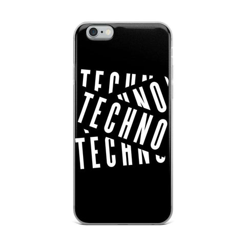 Techno Layers iPhone Case
