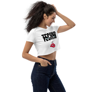 Nosebleed Organic White Crop Top