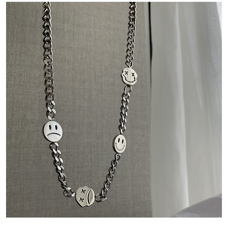 Stainless Steel Smiley Pendant