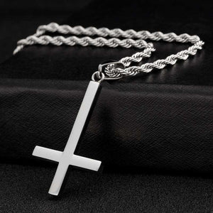 Titanium Inverted Cross Pendant