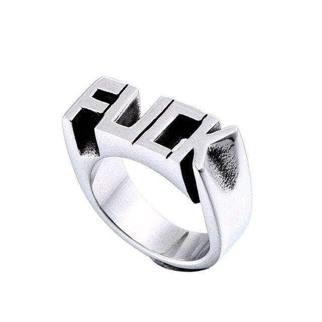 F Word Stainless Steel Ring