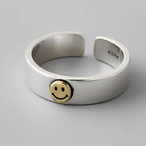 Sterling Silver Smiley Face Ring