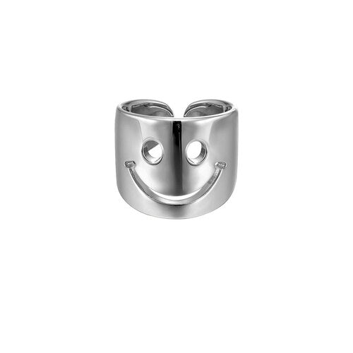 Premium Acid Smiley Ring