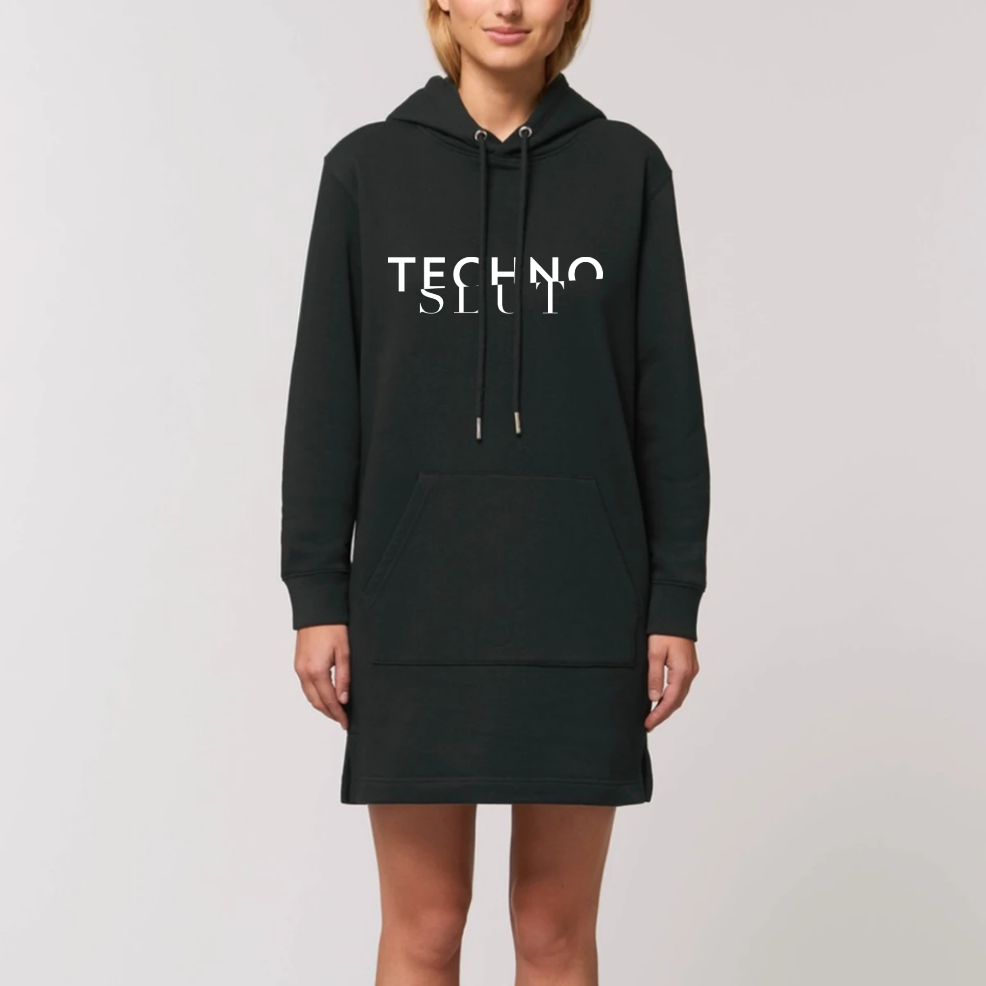 Techno Slut Hoodie Dress