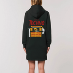 Beware of Techno Hoodie Dress
