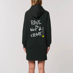 Rave Is Not A Crime Hoodie Dress