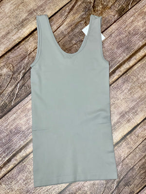 Gray Reversible Tank - B Three Boutique