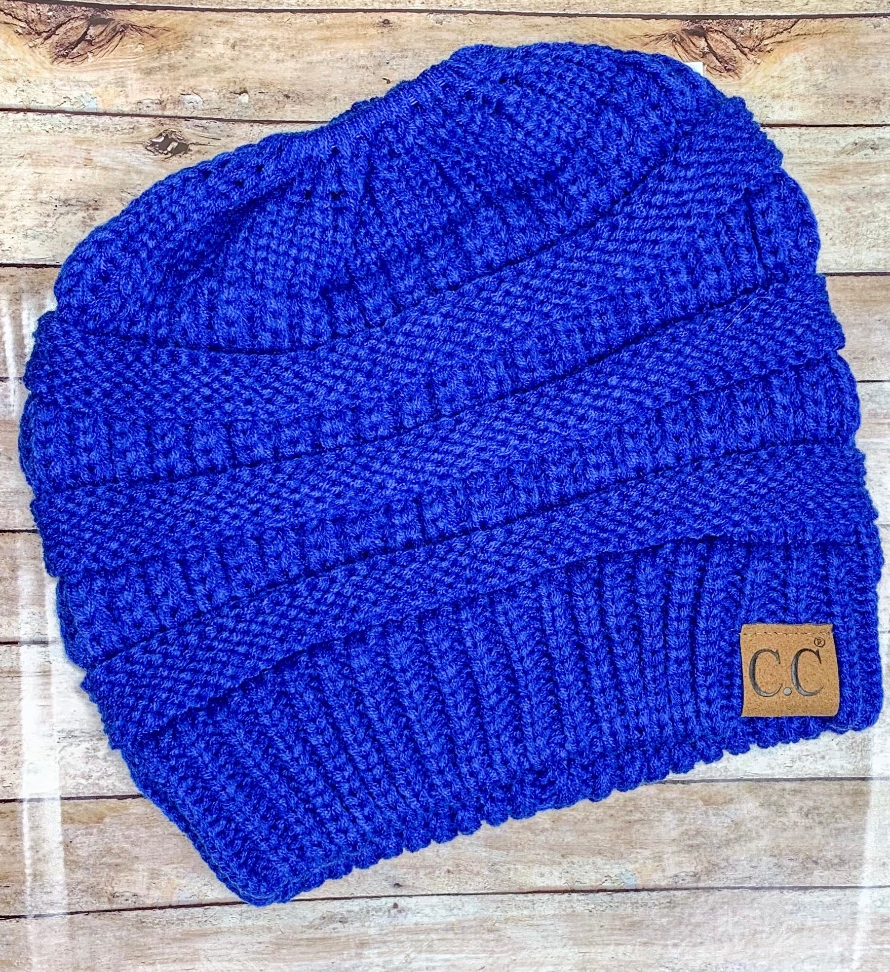 Royal CC Pony Tail Beanie - B Three Boutique