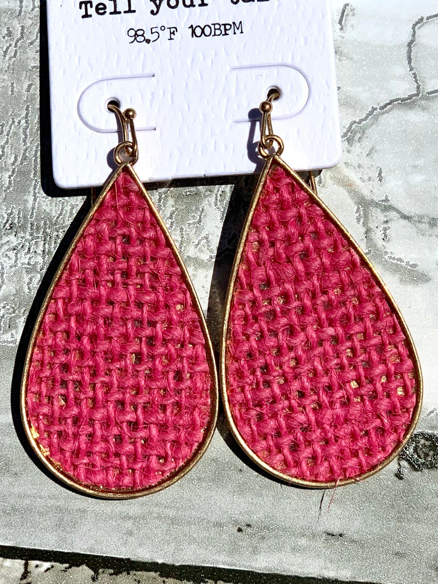 Pink Threaded Earrings - B Three Boutique
