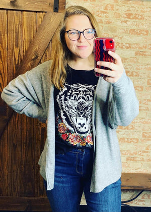 Black Tiger Tee - B Three Boutique