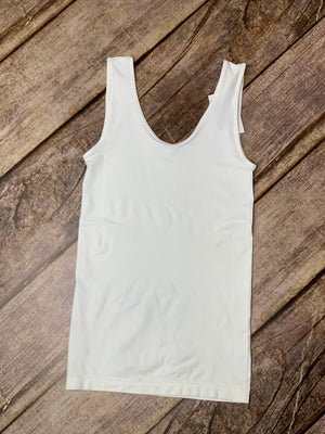 Ivory Reversible Tank - B Three Boutique
