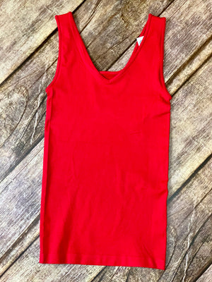 Red Reversible Tank - B Three Boutique