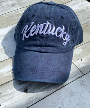 Navy Kentucky Cap - B Three Boutique