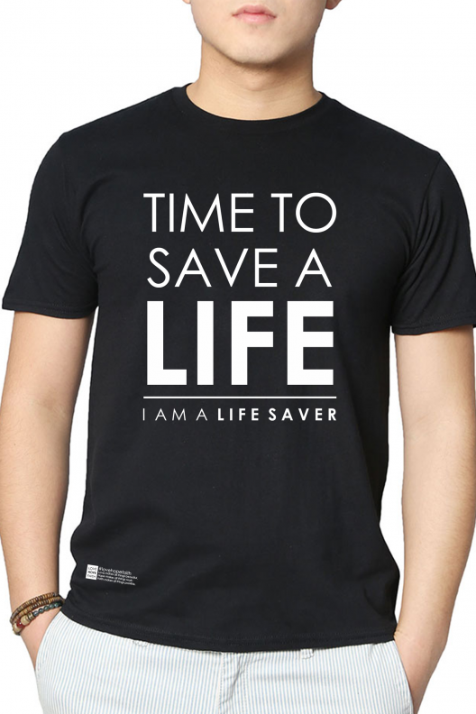 LIFE SAVER SHIRT - BLACK