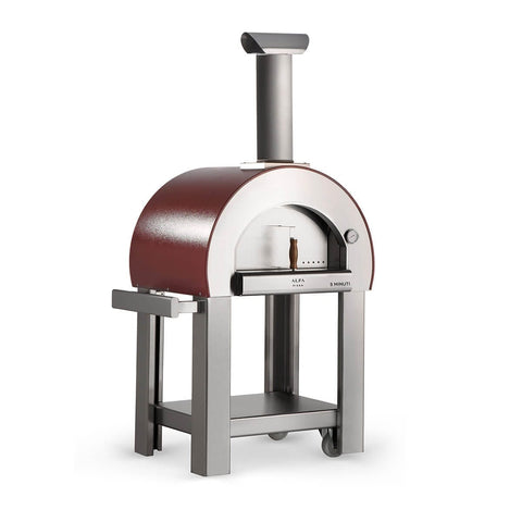 ALFA - 5 MINUTI Wood Fired Pizza Oven with stainless steel base
