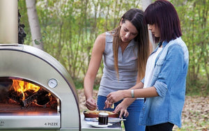 Enjoy great food and fellowship with friends with your new ALFA 4 Pizze Outdoor Pizza Oven