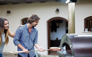 Enjoy the versatility of new dishes and make cooking fun again when stoking the wood ambers in your new ALFA 4 Pizze outdoor pizza oven from the Great Outdoor Pizza Ovens Company