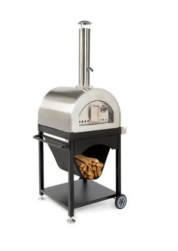 Great Outdoor Pizza Ovens SOKO outdoor wood-fired pizza oven with bottom cart