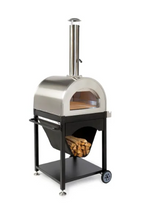 Great Outdoor Pizza Ovens SOKO outdoor wood-fired pizza oven angled view