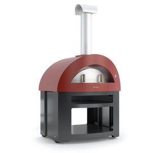 Great Outdoor Pizza Ovens red Alfa Allegro outdoor wood-fired pizza oven with bottom cart