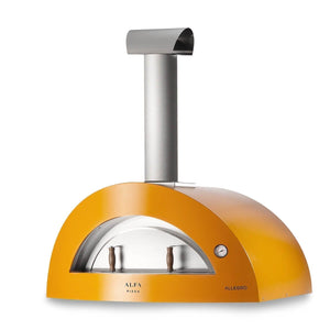 Great Outdoor Pizza Ovens yellow Alfa Allegro outdoor wood-fired pizza oven