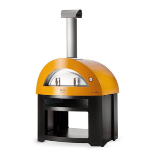Great Outdoor Pizza Ovens yellow Alfa Allegro outdoor wood-fired pizza oven with bottom cart