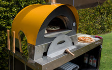 Stainless steel multi-functional base cart for your Great Outdoor Pizza Oven with plenty of space for food preparation