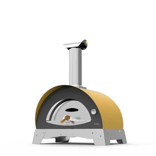 Great Outdoor Pizza Ovens yellow Alfa Ciao outdoor wood-fired pizza oven