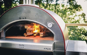 With its Made in Italy quality, the ALFA Pizze 4 outdoor pizza oven with optional stainless steel base from the Great Outdoor Pizza Ovens Company will last for years