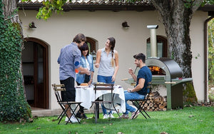 Enjoy time with friends and family and make cooking fun again when stoking the wood ambers in your new ALFA 4 Pizze outdoor pizza oven from the Great Outdoor Pizza Ovens Company