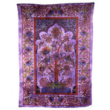 indian wallhanging tree of life purple
