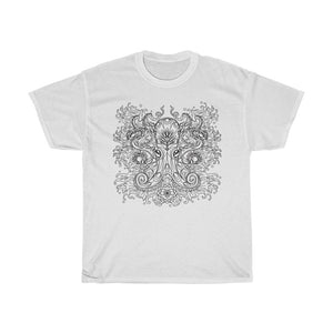 Unisex Heavy Cotton T-Shirt - Vintage Octopus