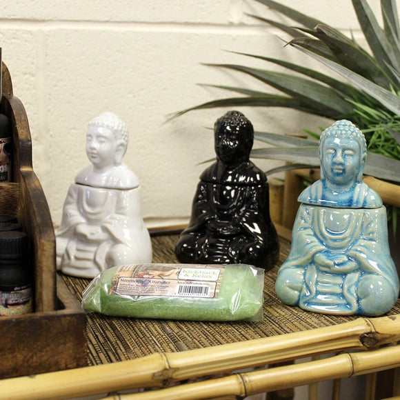 collection of buddha oil burners