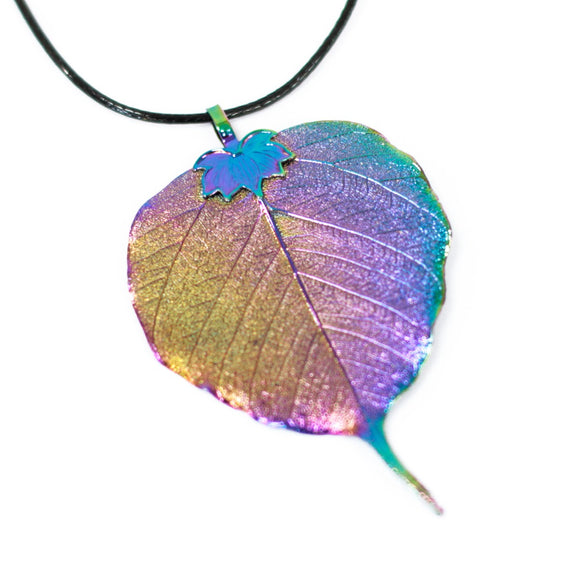 cheeseonbread real leaf necklace