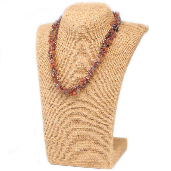 red agate gemstone necklace