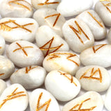 rune set white agate