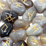 rune set grey agate