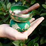 mini brass singing bowl set