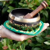 green tara singing bowl set