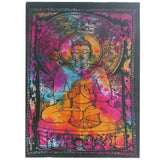 indian cotton wallhanging peaceful buddha