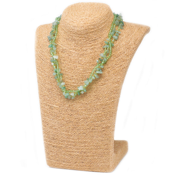jade gemstone necklace