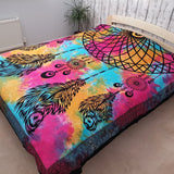 indian bedspread/wall hanging - dreamcatcher