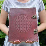 leather journal notebook cheeseonbread