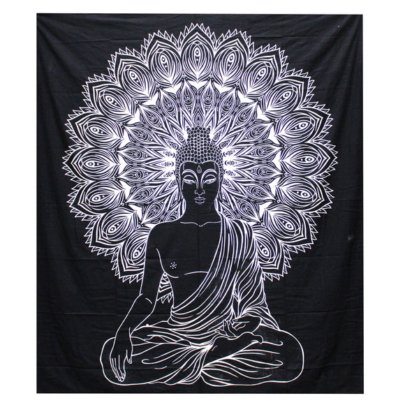 double indian bedspread buddha