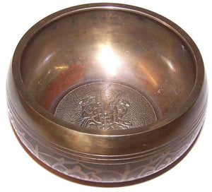 tibetan singing bowl ganesh design