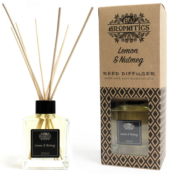 essential oil reed diffuser lemon and nutmeg