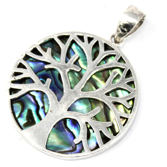 cheeseonbread tree of life abalone pendant
