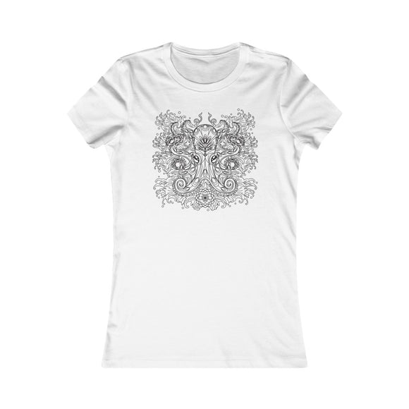 Women's Cotton T-Shirt - Vintage Octopus