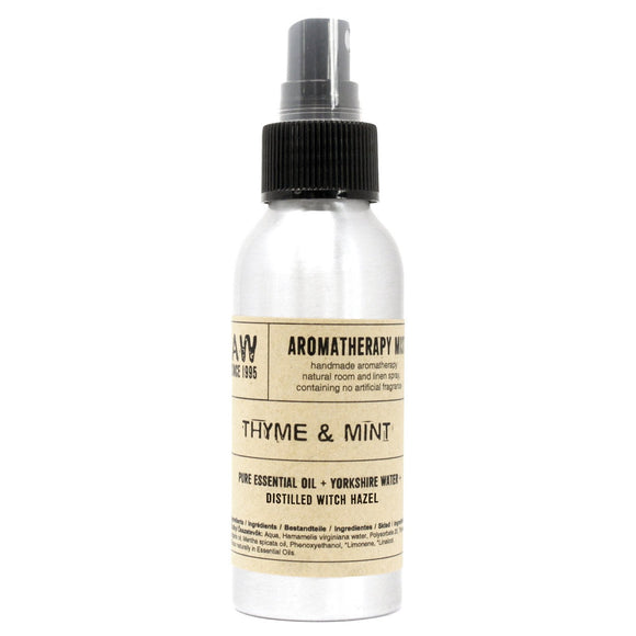 essential oil room mist thyme and mint