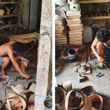 workshop for handmade coconut lamps